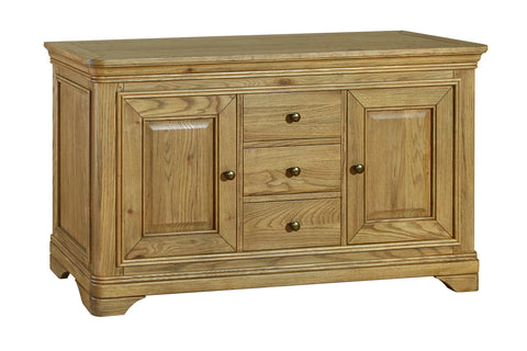 Loire French Oak Large Sideboard with 3 Drawers and 2 Doors