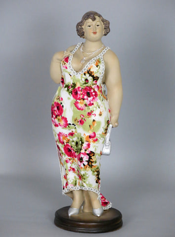 Fiorella Tuttodonna Curvy Buxom Busty Lady Woman Oranment Figurine with Silver Bag