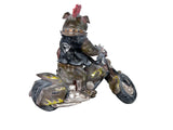 Punk Bulldog Biker on Motorbike Ornament