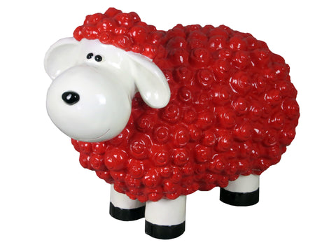 Cartoon Red Sheep Ornament