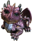 Laying Purple Baby Dragon Ornament