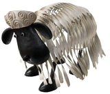 White Metal 3D See Through Sheep Ornament