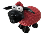 Red & Black Sheep Cartoon Ornament