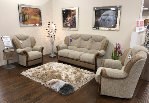 Martina Real Leather & Fabric Sofa Collection