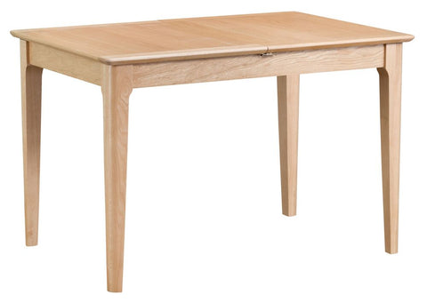 Oak & Hardwood Danish 1.2m Butterfly Extending Dining Table