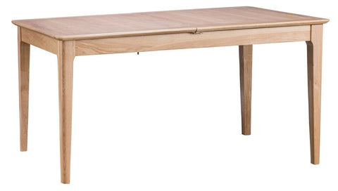 Oak & Hardwood Danish 1.6m Butterfly Extending Dining Table