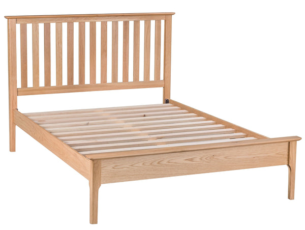 Oak & Hardwood Danish Style Double Bed