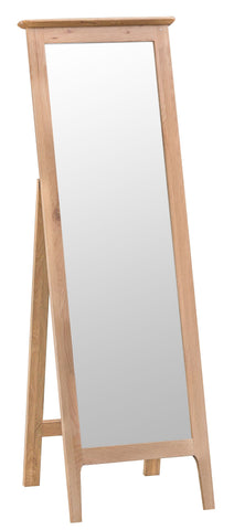 Oak & Hardwood Danish Style Cheval Vanity Mirror