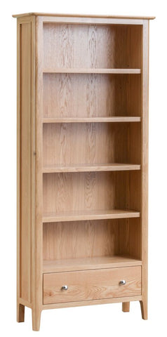 Oak & Hardwood Danish Style Large Bookcase