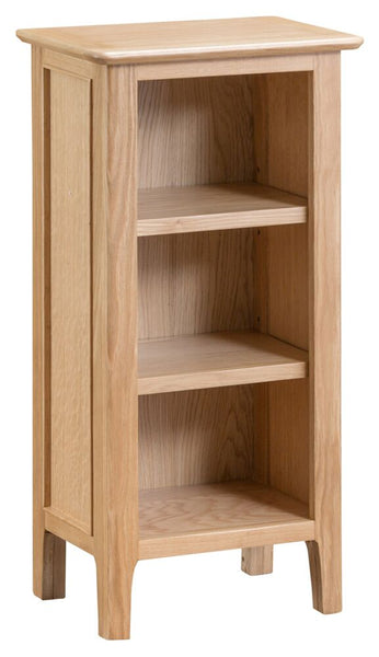 Oak & Hardwood Danish Narrow Bookcase