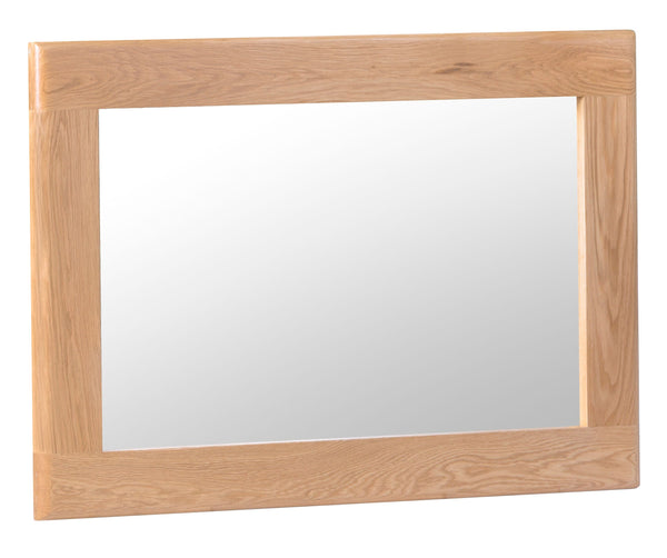 Oak & Hardwood Danish Style Small Wall Mirror