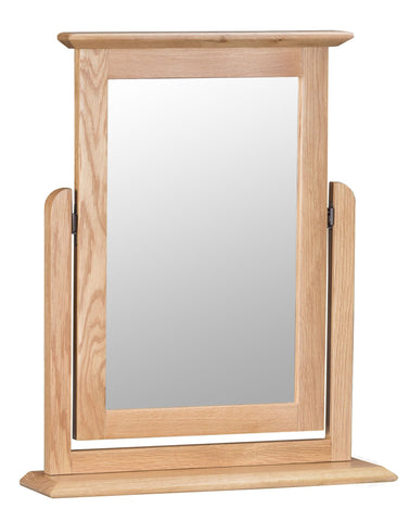 Oak & Hardwood Danish Style Dressing Table Trinket Mirror