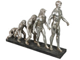Silver Human Evolution of Man Ornament