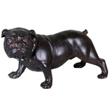 "15"" Brown Wood Effect Standing Bulldog Ornament"