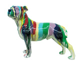 Paint Splatter Large Staffordshire Bull Terrier Ornament