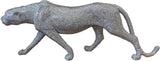 Silver Studded Prowling Lioness Ornament