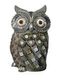 Silver & Gold Mosaic Owl Ornament
