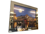 Liquid Art Mirror Frame Rialto Bridge Venice at Night Wall Hanging Picture