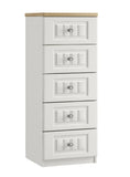 Portofino 5 Drawer Narrow Chest of Drawers