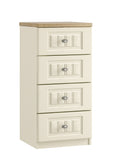 Portofino 4 Drawer Narrow Chest of Drawers