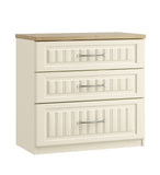 Portofino 3 Drawer Chest of Drawers (with One Deep Drawer)