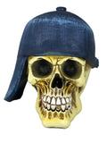 Small Skull Ornament with Baseball Cap