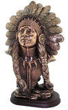 Copper Effect American Indian Chief Bust Ornament
