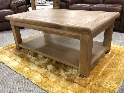 Weathered Oak Rectangular Coffee Table