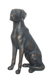 Sitting Copper Effect Labrador Ornament