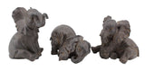 Trio of Playful Baby Elephant Ornament