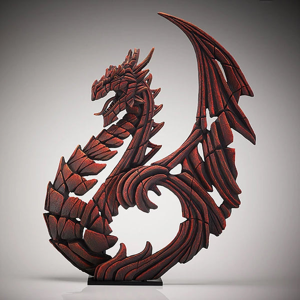 Red Heraldic Dragon Ornament
