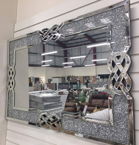 Diamante Filled Celtic Cross Knot Wall Mirror