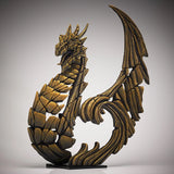Golden Heraldic Dragon Ornament