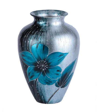 Ice Blue Floral Colourama Potted Vase
