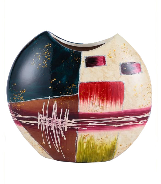 Patchwork Cream Colourama Oval Vase