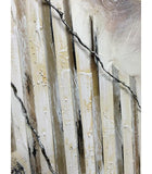 Single Fence Large Raised Details Canvas Oil Painting