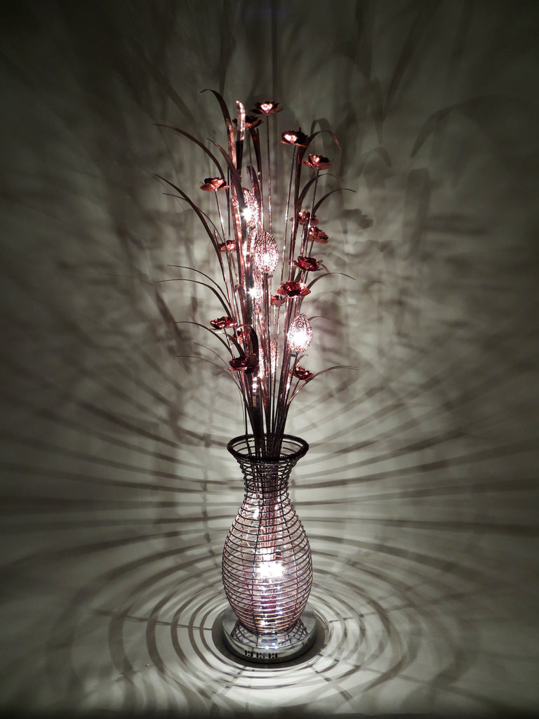 Florida Coffee Wire Floor Lamp Comfortzone Home Furnishers Wiring A Woven Aluminium Metal Copper Brown Standing Standard