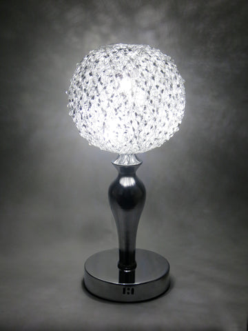 Silver Wire & Crystal Ball LED Table Lamp