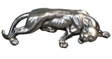 Pewter Styled Snarling Leopard Ornament