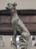 Pewter Styled Large Sitting Dog Ornament