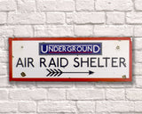 Air Raid Shelter Vintage Road Sign