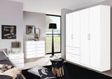 Cherry Hinged Wardrobe in Alpine White