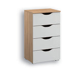 Attwood Alpine White 4 Drawer Tall Chest of Drawers