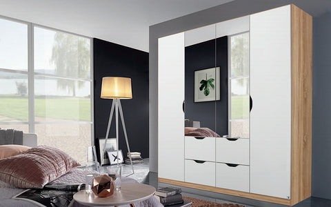 Attwood Alpine White Hinged Door Combi Wardrobe Range