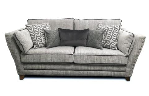 Anthea Fabric 3 Seater Formal Back Sofa