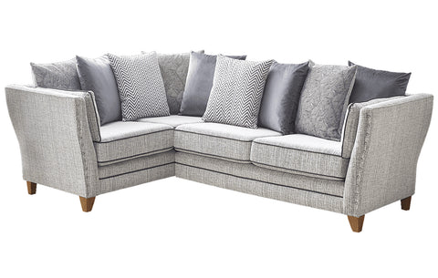 Anthea Fabric Left Hand Facing Pillow Back Corner Sofa
