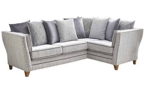 Anthea Fabric Right Hand Facing Pillow Back Corner Sofa