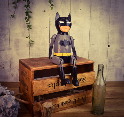 Batman Wooden Puppet Ornament