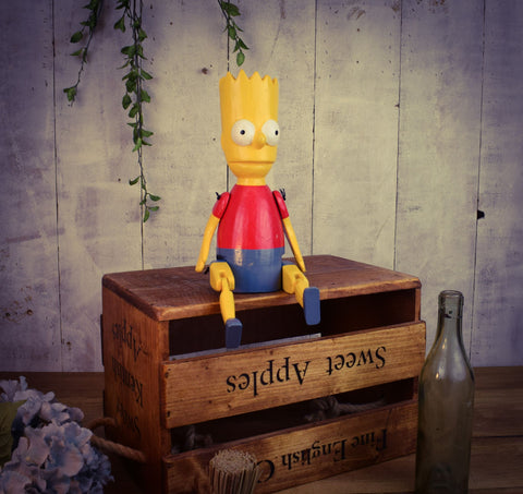 Bart Simpson Wooden Puppet Ornament