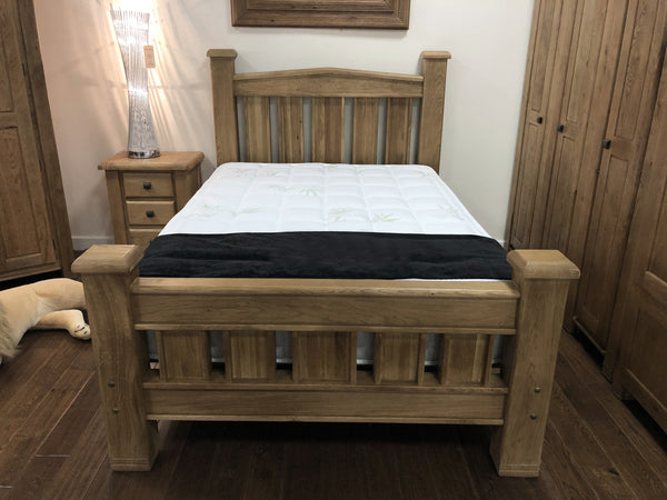 Weathered Oak Double Bed